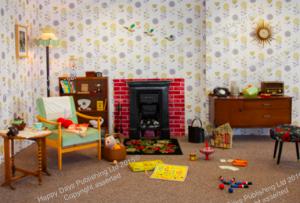 1950s Room Scene Wallpaper & Pop-up Banners