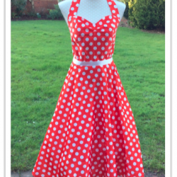 1950s Polka Dot Dress www.dementiaworkshop.co.uk