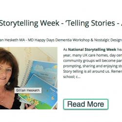 Gillian Hesketh Happy Days Dementia Workshop & Nostalgic Design