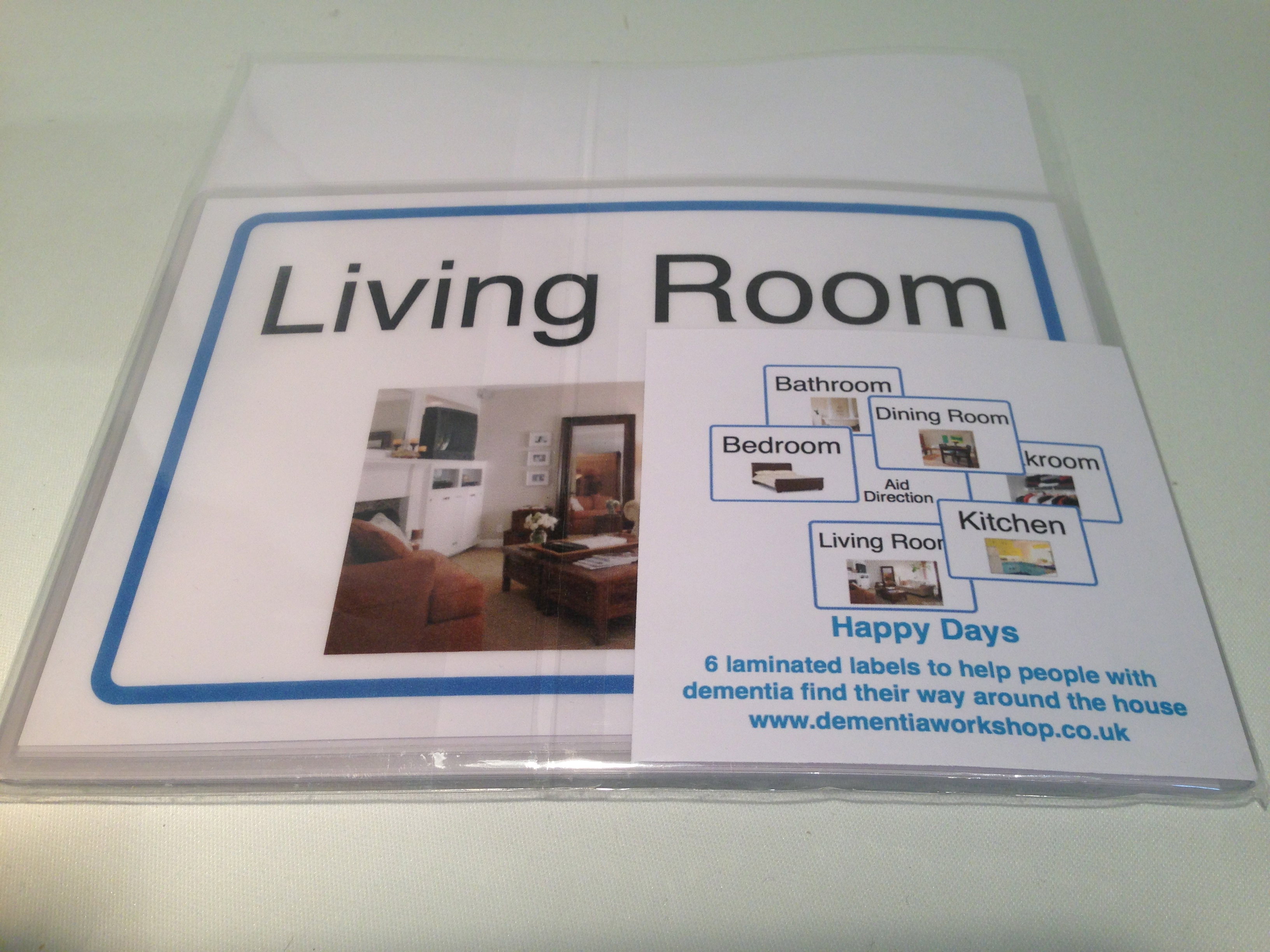 Signage For Home Dementia Workshop