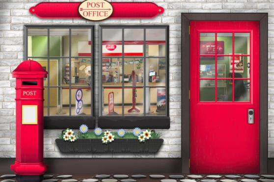 Post Office with door effect – Wallpaper – Design Service ...
